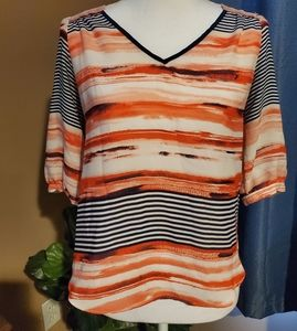iZByer Red White and Blue Super Cute Top